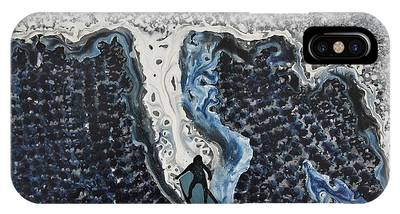 Storm Surfer Original Painting Sold IPhone Case