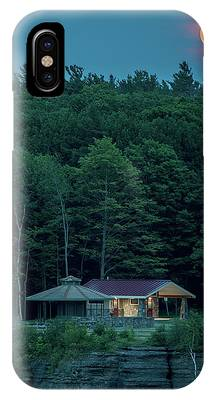 IPhone Case featuring the photograph Strawberry Moon by Brad Wenskoski