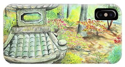 Strolling Through The Japanese Garden IPhone Case
