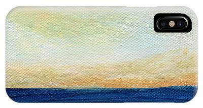 Ocean Sunset Mixed Media iPhone Cases