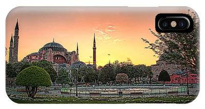 IPhone Case featuring the photograph Sunrise At Hagia Sophia by Kevin McClish