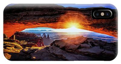 IPhone Case featuring the digital art Sunrise At Mesa Arch by Kevin McClish