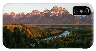 IPhone Case featuring the photograph Sunrise On The Snake by Ronnie and Frances Howard