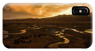Sunrise Over Winding Rivers IPhone Case