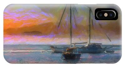 Sunrise With Boats IPhone Case