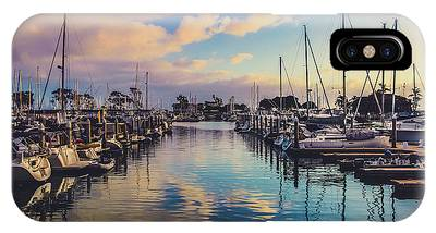 IPhone Case featuring the photograph Sunset At Dana Point Harbor by Andy Konieczny