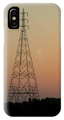 Sunset Pylons IPhone Case by Chris Cousins