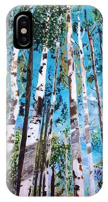 Tall Whites IPhone Case by Patti Ferron