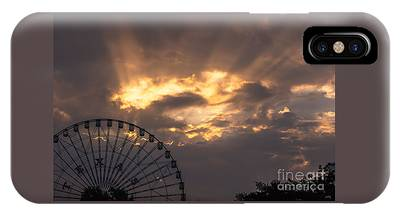 Texas Star Ferris Wheel And Sun Rays IPhone Case