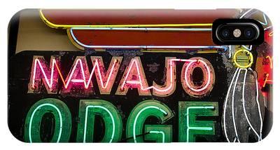 The Navajo Lodge Sign In Prescott Arizona IPhone Case