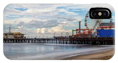 The Pier On A Cloudy Day IPhone Case