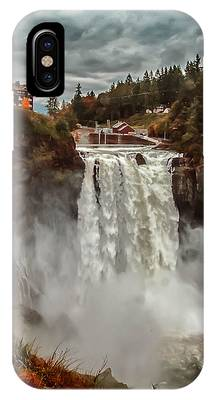 IPhone Case featuring the photograph The Powerful Snoqualmie Falls by Kevin McClish