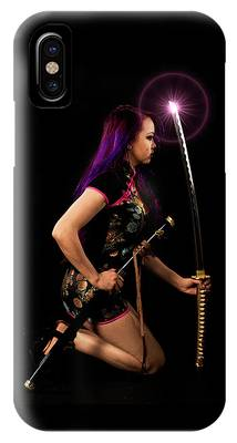 IPhone Case featuring the digital art The Purple Glow by Kevin McClish