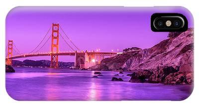 Golden Gate Bridge At Night IPhone Case