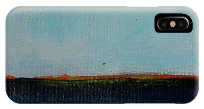 IPhone Case featuring the painting Thin Orange Line by Kim Nelson
