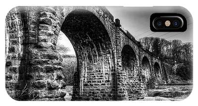IPhone Case featuring the photograph Thomas Viaduct In Black And White by Dennis Dame