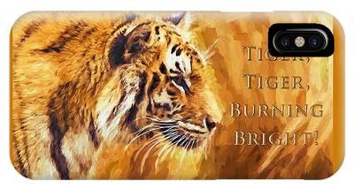 Tiger Tiger Burning Bright IPhone Case