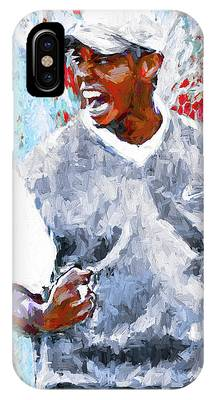 Tiger Woods One Two Red Painting Digital IPhone Case