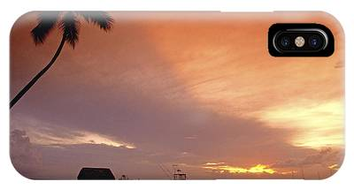 IPhone Case featuring the photograph Tobago, Pigeon Point Sunset, Caribbean Sea, by Juergen Held