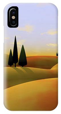 Rolling Hills Digital Art iPhone Cases
