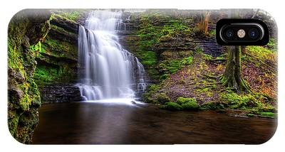 IPhone Case featuring the photograph Tranquil Slow Soft Waterfall by Dennis Dame