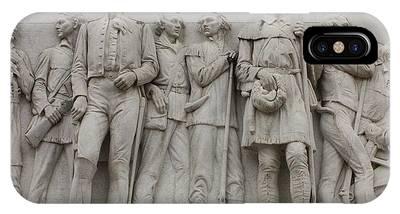 Travis And Crockett On Alamo Monument IPhone Case