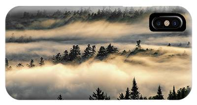 IPhone Case featuring the photograph Trees In The Clouds by Brad Wenskoski