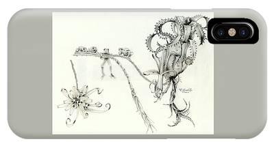 Neoregelia Drawings iPhone Cases