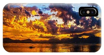 Tropical Twilight I IPhone Case