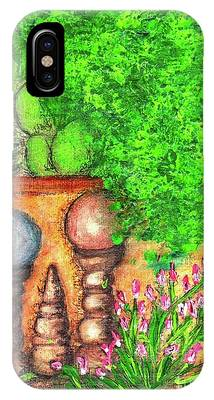 IPhone Case featuring the painting Tucson Garden by Kim Nelson