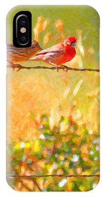 Two Birds On A Wire IPhone Case