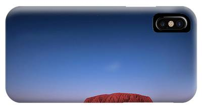 IPhone Case featuring the photograph Uluru Starry Night by Chris Cousins