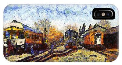Van Gogh.s Train Station 7d11513 IPhone Case