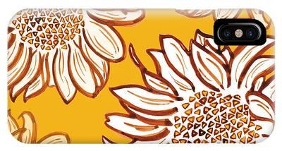 Sunflower Digital Art iPhone Cases