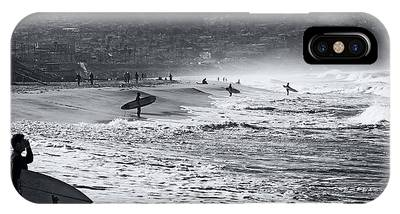 Waiting For The Surf By Mike-hope IPhone Case