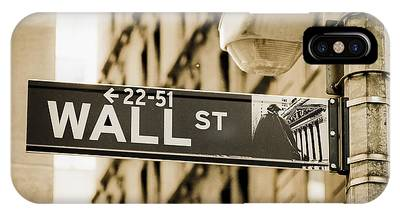 IPhone Case featuring the photograph Wall Street by Juergen Held