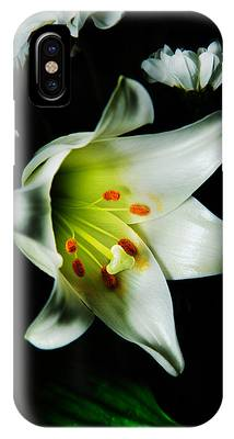 IPhone Case featuring the photograph White Blooming Lily by Dennis Dame
