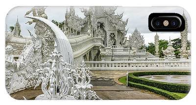 IPhone Case featuring the photograph White Temple Thailand by Benny Marty
