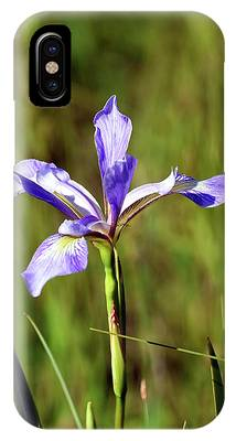 IPhone Case featuring the photograph Wild Blue Flag Iris by Sally Sperry