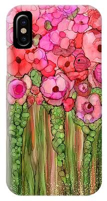 Pink Mixed Media iPhone Cases