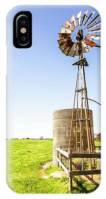 Wind Powered Farming Station IPhone Case by Jorgo Photography - Wall Art Gallery