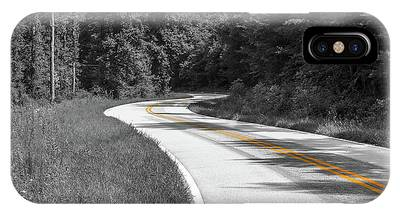 Winding Country Road In Selective Color IPhone Case