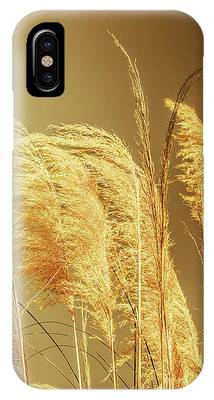 IPhone Case featuring the photograph Windswept Autumn Brush Grass by Jorgo Photography - Wall Art Gallery