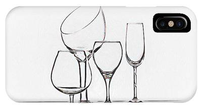 Table Wine Photographs iPhone Cases