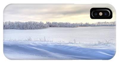 Winter Field Phone Case by David Wynia