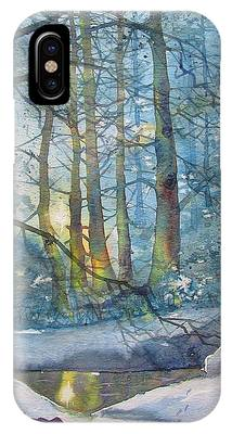 Winter Light In The Forest IPhone Case