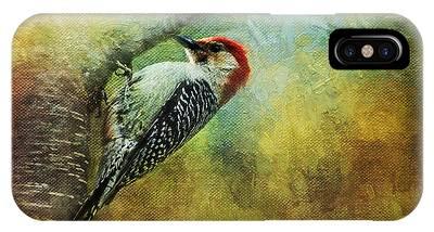 Woodpecker On Cherry Tree IPhone Case