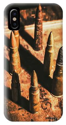 IPhone Case featuring the photograph World War II Ammunition by Jorgo Photography - Wall Art Gallery