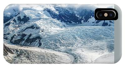 IPhone Case featuring the photograph Wrangell Alaska Glacier by Benny Marty