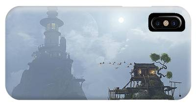 Fog Mist Digital Art iPhone Cases